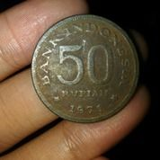Uang 50 Rupiah Tahun 1971 (15669353) di Kota Pekanbaru