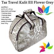 Tas Travel Kulit Ell Flower Grey (15840089) di Kota Jakarta Pusat