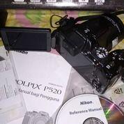Nikon Coolpix P520, Mulus, Lengkap
