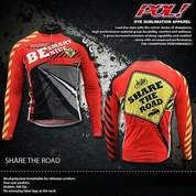 JERSEY SEPEDA POL SHARE THE ROAD RED