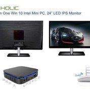 "Paket G-HOLIC All In One PC 24"" LED Dengan Intel Processor Win 10 + Keyboard Mouse Combo (16003381) di Kota Batam"