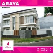 Rumah Baru 2 Lantai Luas 266 Di PBI Araya Kota Malang _ 367.18 (16017637) di Kota Malang