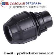 Fitting Compression HDPE Female Thread Joint Equal (16023033) di Kab. Fak Fak