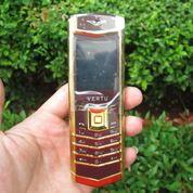 Hape Antik Mewah Verteu M6i Body Metal Kulit Luxury Phone (16110101) di Kota Jakarta Pusat