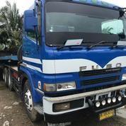 Mitsubishi Fuso SuperGreat 8dc9 Head Truck Beserta Trailer 12 Meter Lantai. Built Up (16110341) di Kota Medan