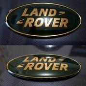 Emblem Mobil Land Rover Green Gold Aluminium.2pcs (16212517) di Kota Bogor