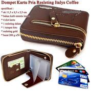 Dompet Pria Leather Resleting Italys Coffee Dan Brown (16279369) di Kota Jakarta Timur
