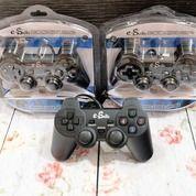 Stik Pc / Gamepad Usb Single Hitam Kualitas Super