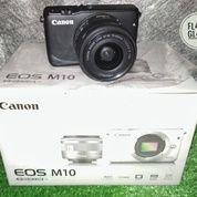 Canon Eos M10 15-45 Fullset Super Mulusss Garansi (16494193) di Kota Surabaya