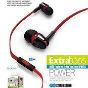 Headset Handsfree Earphone Extra Bass RK20K Roker 100% Original