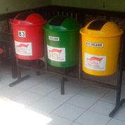 Tempat Sampah Bulat Fiberglass 3 Pilah (16577879) di Kab. Bekasi