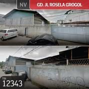 Gudang Jl Rosela, Grogol, Jakarta Barat, 2133 M, SHM. (16616887) di Kota Jakarta Barat
