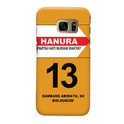 Partai Hanura Your Text & Number Samsung Galaxy S7 Edge Custom Hard Case