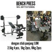 Bench Press Full Lengkap Stik Panjang 1.8cm Alat Fitness Sidoarjo (16975975) di Kab. Gresik
