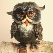 Patung Burung Hantu Black Owl