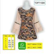 Model Blus Batik, Batik Wanita, Desain Baju Batik, TOP715BK (17154891) di Kota Mojokerto