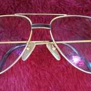Kacamata Vintage Cartier Gold Aviator