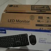 MONITOR LED LG 19M38A + KEYBOARD PROLINK PCCS 1003