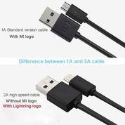 KABEL DATA CHARGERAN XIAOMI ORIGINAL 100% MICRO KABEL USB CABLE DATA - Hitam