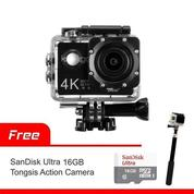 Action Camera Kogan 4K UltraHD 16MP Wi-Fi + Memory Sandisk 16Gb Class 10 + Monopod Attanta SMP-07 (17295599) di Kota Surabaya
