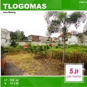 Tanah Kavling Luas 532 Di Tlogomas Dinoyo Kota Malang _ 600.18 (17297927) di Kota Malang
