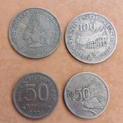 Uang Koin Kuno , Pecahan Rp. 5 , 10 , 50 Dan 100 (17318651) di Kota Surabaya
