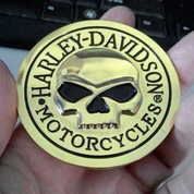 Emblem Metal 3D Gold Harley Skull (17501491) di Kota Bogor