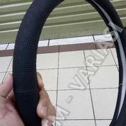 Sarung Stir Kulit Laether Cover Stir Mobil Full Hitam Kombinasi Dot (17587235) di Kota Jakarta Pusat