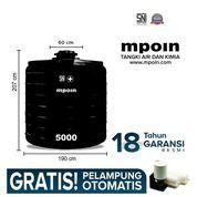 Mpoin Plus 5000 L-SNI Tangki Tandon Toren Air Anti Bakteri Anti Lumut Anti Pecah Garansi 18 Tahun