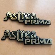 "Emblem Logo Tulisan ""ASTREA PRIMA"" - Untuk Honda PRIMA - Mulus (17651611) di Kota Surabaya"