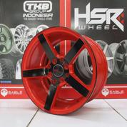 Velg Ring 15 Murah Type NE3 Hole 4x100 Warna Bkred