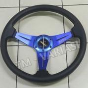 Stir Racing MOMO 14 Inchi Hitam Warna Palang Biru Import (17756255) di Kota Jakarta Pusat