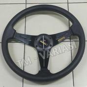 Stir Racing MOMO 14 Inchi Hitam Warna Palang Hitam Ring Dove Import (17756315) di Kota Jakarta Pusat
