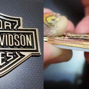 Emblem Gold Small Metal Harley Logo.56x45