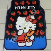 Karpet Mobil Universal Motif Hello Kitty Strawberry Pita Merah Dasar Hitam (18012055) di Kota Jakarta Pusat