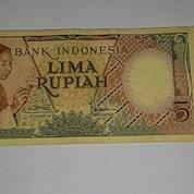 Uang Kertas Rp..5.- Th.1958 (Ngebatik)