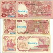 Uang Kertas Rp.100,- (Tahun 1977, 84 Dan 92)
