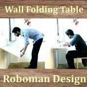 Meja Lipat Ke Dinding Meja Kerja Meja Belajar Anak Warna Putih (Spidol Bisa Dihapus) 80 X 40 Cm (18169195) di Kota Jakarta Timur