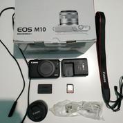 Kamera Canon Mirrorless M10 With Lens 15-45mm+Free Memory 64GB Ultra Class 10 (18290023) di Kota Jakarta Barat