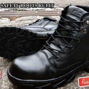 SEPATU SAFETY BOOTS / SEPATU BOOTS PRIA / SEPATU KERJA / SEPATU KULIT / SEPATU PDH