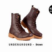 Sepatu Boots Pria / Sepatu Touring Humm3r Underground Brown