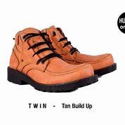 Sepatu Boots Pria / Sepatu Adventure Humm3r Twin Tan Build Up
