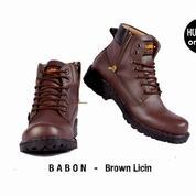 Sepatu Boots Pria Humm3r Babon Brown Licin
