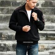 Jaket Pria | Jaket Cowok | Jaket Simpel Hitam Dan Coklat | SK119 | FC