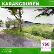 Tanah Murah Luas 4.787 Poros Jalan Di Karangduren Pakisaji Kota Malang _ 71.19 (18660519) di Kota Malang