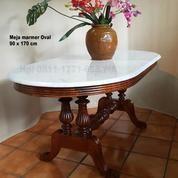 Meja Marmer Oval 90 X 170 Cm (18768459) di Kota Tangerang Selatan