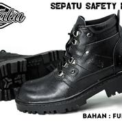 SEPATU SAFETY BOOTS PRIA / SEPATU KULIT / SEPATU KERJA / SEPATU PROYEK / SEPATU PRABU