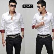 Kemeja Pria | Kemeja Cowok | Kemeja Formal Putih | SK10 | FC