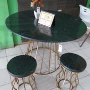 Dining Table/Meja Makan Bentuk Bulat Asli Marmer Alam (18856367) di Kota Palembang