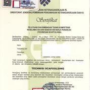 Jasa Sertifikasi Surat Izin Operator Scaffolding (18962683) di Kota Bekasi